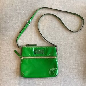 Kate Spade Patent Leather Green Crossbody Purse